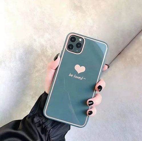 """Be loved"" Blue Case with popsocket"