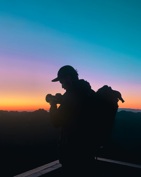 Sunset Self-Portrait