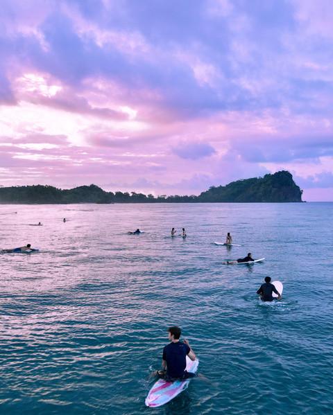 Surfers in Costa Rica