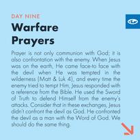 Day 9 - Warfare Prayers (a)
