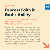 Day 2 - The Lord's Prayer (e)