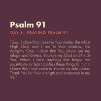 Day 6 - Praying Scripture (e)