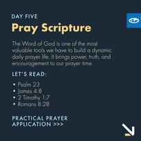 Day 5 - Praying Scripture (a)