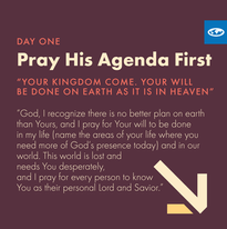 Day 1 - The Lord's Prayer (c )