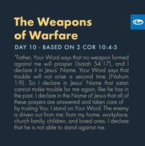 Day 10 - Warfare Prayers (b)