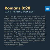 Day 5 - Praying Scripture (e)