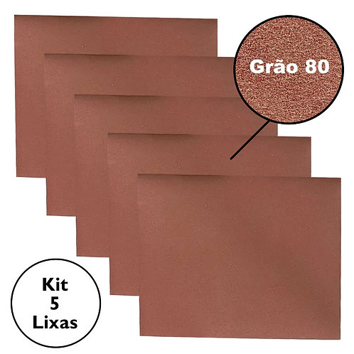 Kit Folhas de Lixa MTX Grão 80 220 mm x 270 mm Madeira Massa Metal