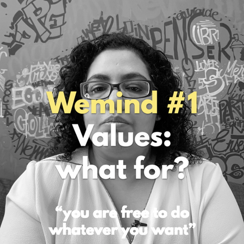 "Meet the pioneers: WEMIND #1""Values: what for?"""