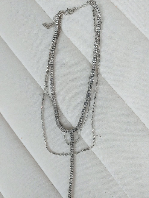 3 silver chain necklace