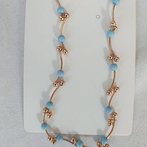 blue & gold ankle bracelet