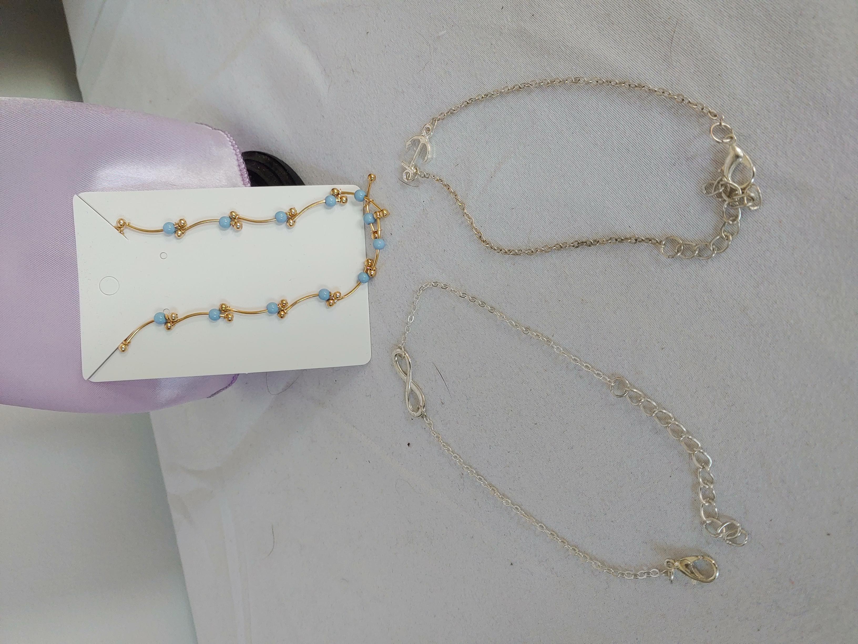 3 ankle bracelets