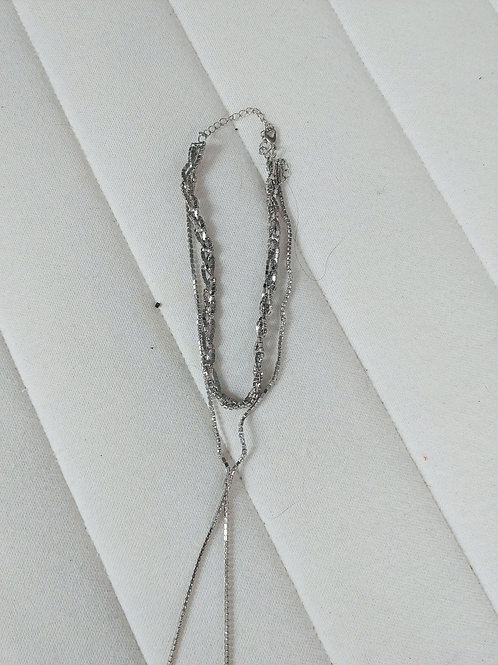 2 silver chain necklace