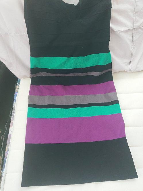 black & green dress