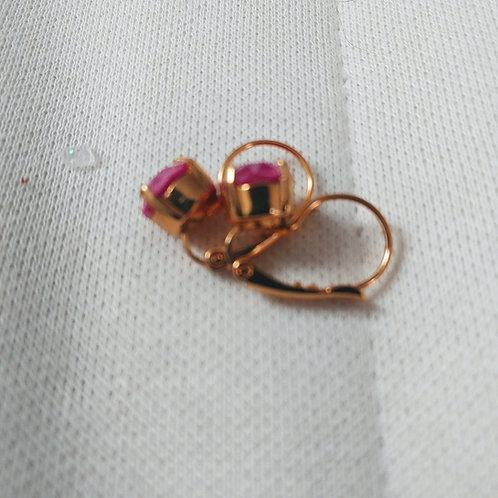 Red Swarovski crystal earring