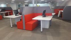 proyecto interiorismo oficina global design hub barcelona 9 biombo acústico