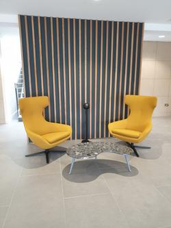 proyecto interiorismo oficina global design hub barcelona 17, sillón oficina, sillones de dirección