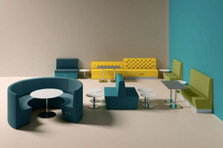 proyecto interiorismo oficina global design hub barcelona 17, banquetas oficina, banquetas conectada