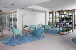 proyecto interiorismo oficina global design hub barcelona 33, estanterías oficina divisorias autopor