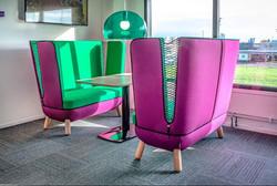proyecto interiorismo oficina global design hub barcelona 31, sillón oficina, sillones de dirección