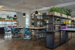 proyecto interiorismo oficina global design hub barcelona 32, estanterías oficina divisorias autopor