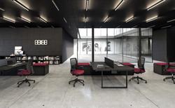 proyecto interiorismo oficina global design hub barcelona 13, mobiliario oficina, mesas operativas d