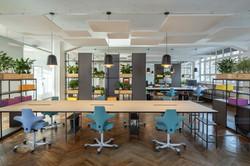 proyecto interiorismo oficina global design hub barcelona 25, estanterías oficina divisorias autopor