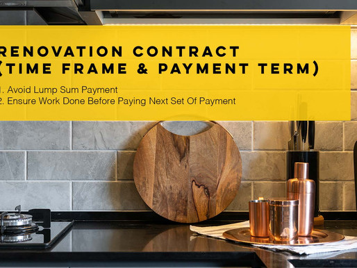 Renovation Contract (Time Frame & Payment Term)