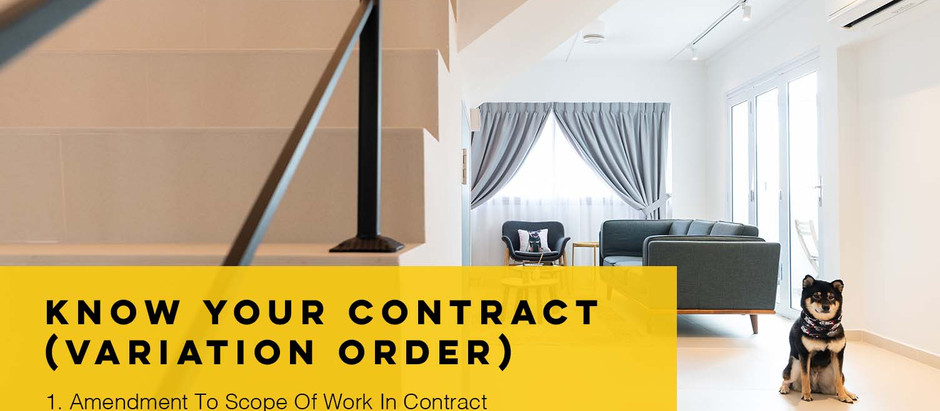 Know Your Contract (Variation Order)