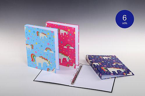 Carpeta Con Mecanismo 4 Aros Unicornios