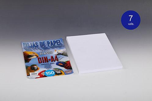 150 Hojas Papel Blanco 80 Gr