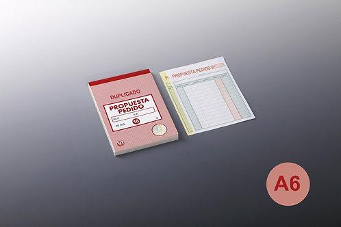 Talonario Propuesta Pedido A-6 Duplicado 20 Copias