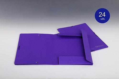 Carpeta Azul Con Solapas y Goma Tamaño Folio