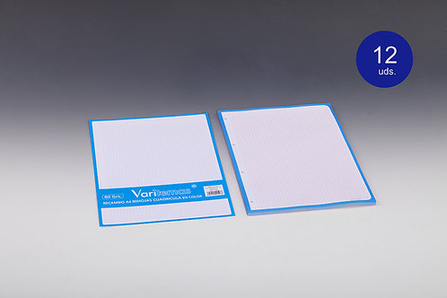 Recambio Cuadricula Azul Cielo Tamaño Folio
