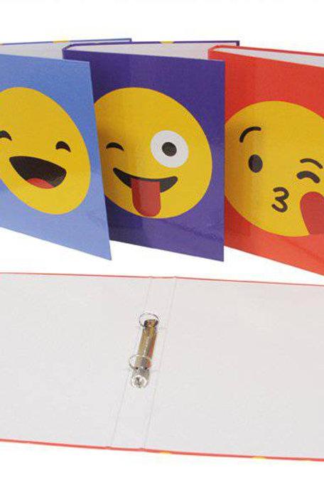 Carpeta Con Mecanismo 2 Aros Emojis