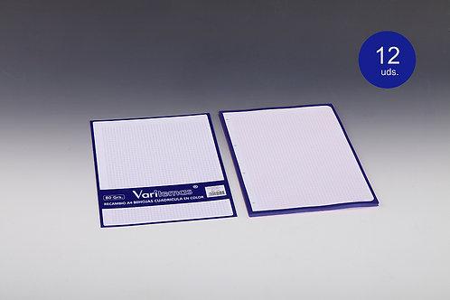 Recambios De Cuadricula Azul Tamaño Folio