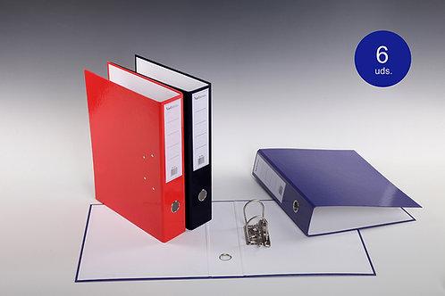 Archivador A/Z De Colores Lisos Con Palanca Y Compresor