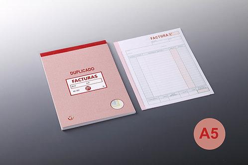 Talonario Facturas A-5 Duplicado 20 Copias