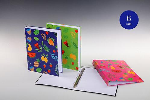 Carpeta Con Mecanismo 4 Aros Tutti Frutti
