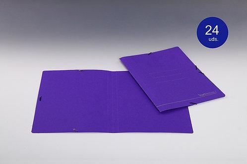 Carpetas Azules Con Goma Tamaño Folio