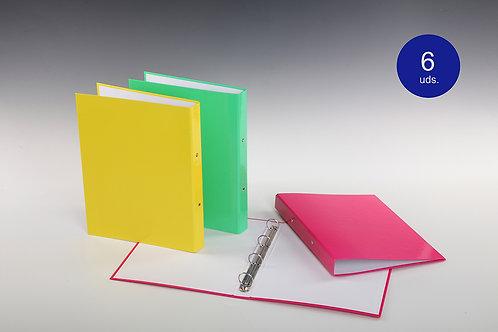 Carpeta Con Mecanismo 4 Aros Colores Flúor