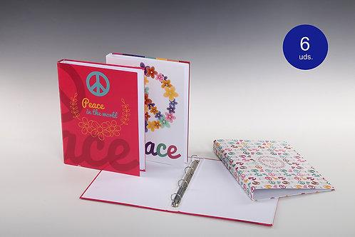 Carpeta Con Mecanismo 4 Aros 'Peace'