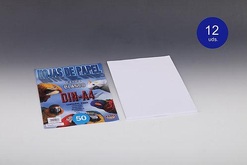 50 Hojas De Papel Blanco 80 Gr Para Impresora