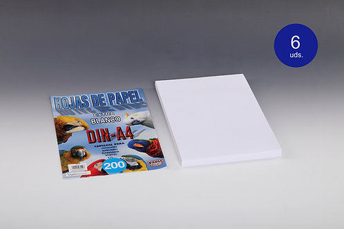 200 Hojas De Papel Blanco 80 Gr Para Impresora