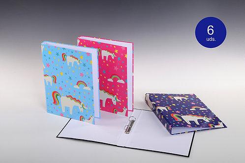 Carpeta Con Mecanismo 2 Aros Unicornios