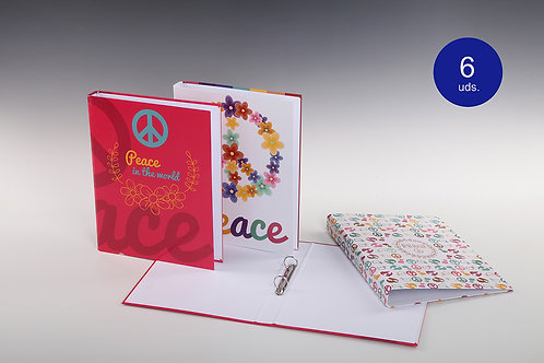 Carpeta Con Mecanismo 2 Aros 'Peace'