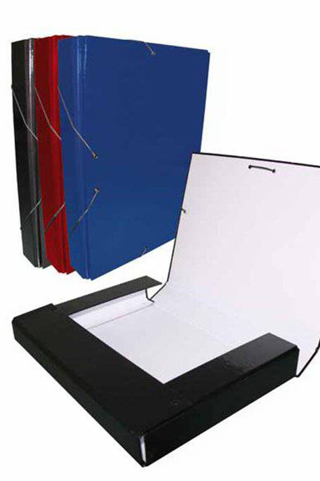 Carpeta Proyecto 3 CM Lomo. Colores Negro, Azul o Rojo