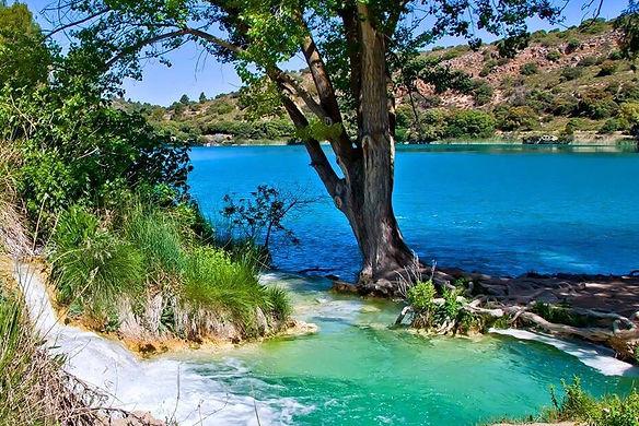 Cascada Laguna de Ruidera, Laguna del Rey en Ruidera, Ossa de Montiel, Albacete, paraiso ntural