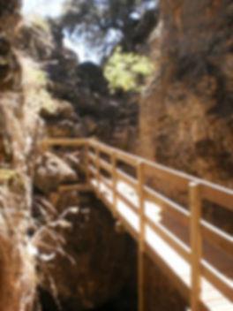 Quebrada del toro, grieta de origen sismico, ruta de fácil acceso