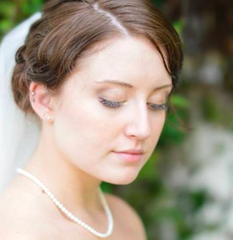 Bridal Wedding Updo Style
