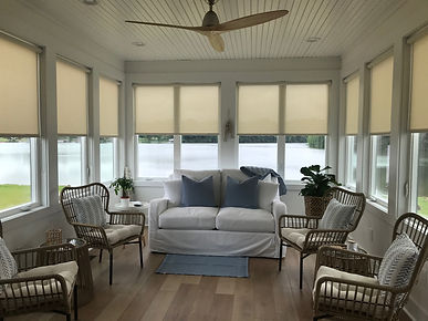 Sun Screen Roller Shade Blinds | Lake Home | Winchester, TN